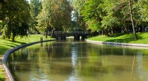 Stadsbuitengracht and Bridge Stock Images