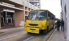 Stadsbuss i Merida, Yucatan Mexico Fotografering för Bildbyråer