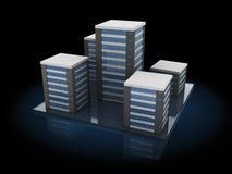 Stadsbyggnader Arkivfoto