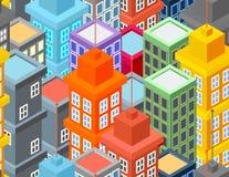 Stadsbyggnadsmodell Stock Illustrationer
