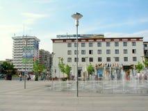 Stadscentrum Bacau stock foto