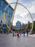 Stadscentrum Cardiff, Wales royalty-vrije stock foto's