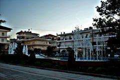 Stadscentrum in Griekenland stock foto's