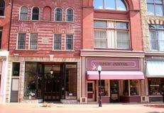 Stadscentrum in Historisch Cumberland Van de binnenstad, Maryland stock afbeeldingen
