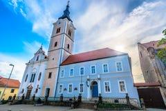 Stadscentrum in Krizevci, Kroatië stock foto