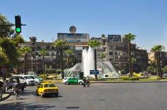 Stadscentrum vóór de oorlog Damascus Stock Afbeelding