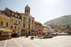 Stadscentrum van Brasov, Roemenië royalty-vrije stock afbeelding