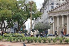 Stadscentrum van Buenos aires, Argentinië Stock Foto's