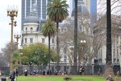 Stadscentrum van Buenos aires, Argentinië Stock Foto