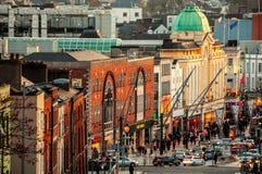 Stadscentrum van Cork, Ierland royalty-vrije stock foto