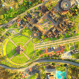 Stadscentrum van de Antenne van Ecuador van het Wereldquito Royalty-vrije Stock Afbeelding