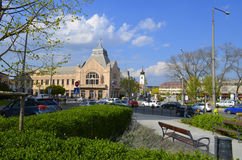 Stadscentrum van Gödöllö, Hongarije Royalty-vrije Stock Afbeelding