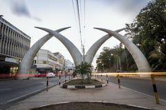 Stadscentrum van Mombasa, Kenia stock afbeeldingen