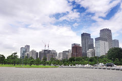 Stadscentrum van Tokyo voor de Paleiskeizer van Japan Royalty-vrije Stock Fotografie
