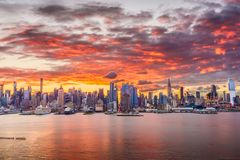 stadscityscape New York Arkivfoto