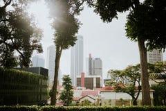 stadscityscapeflod singapore Fotografering för Bildbyråer