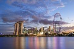 stadscityscapeflod singapore Royaltyfri Bild