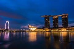 stadscityscapeflod singapore Royaltyfria Bilder
