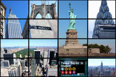 stadscollage New York Royaltyfri Foto