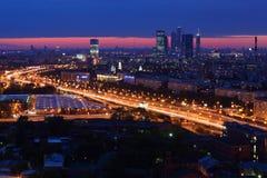 stadscomplex moscow Fotografering för Bildbyråer