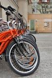 Stadscyklar Fotografering för Bildbyråer