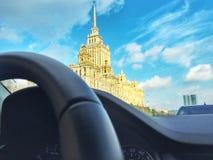stadsdag kremlin utomhus- moscow Royaltyfri Bild
