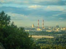 stadsdag kremlin utomhus- moscow Arkivbild