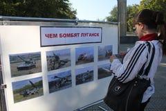 Stadsdag in Luhansk Royalty-vrije Stock Afbeelding