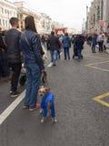 Stadsdag op Tverskaya-Straat, Moskou Royalty-vrije Stock Afbeelding