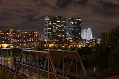 stadsdenver natt Fotografering för Bildbyråer