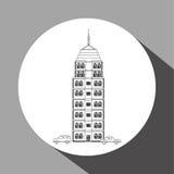 Stadsdesign byggnadssymbol isolerad knapphandillustration skjuta s-startkvinnan Royaltyfria Foton