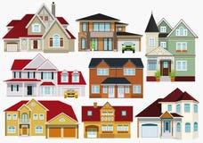 stadsdesignen houses illustrationen dig Arkivfoto