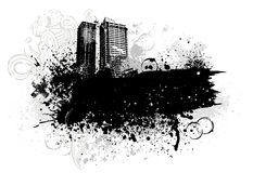 stadsdesigngrunge Royaltyfri Fotografi