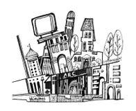 Stadsdiagramillustration Arkivbild