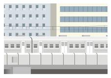 Stadsdrevillustration Stock Illustrationer