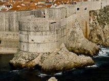 stadsdubrovnik väggar arkivfoto
