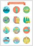 Stadselementen Vector Illustratie