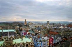stadsengland oxford horisont Arkivfoto