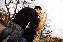stadsEuropa kyss Royaltyfria Bilder