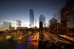 stadsexplosionscape Arkivfoto