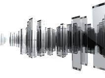 stadsexponeringsglas Arkivbild