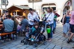 Stadsfestival i Sigmaringen, Tyskland Royaltyfri Bild