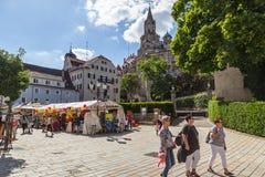 Stadsfestival i Sigmaringen, Tyskland Royaltyfria Bilder