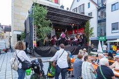 Stadsfestival in Sigmaringen, Duitsland Royalty-vrije Stock Foto's