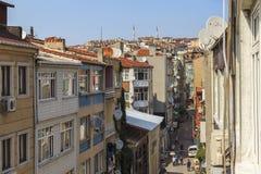 Stadsfjärdedelar av Istanbul Royaltyfri Fotografi