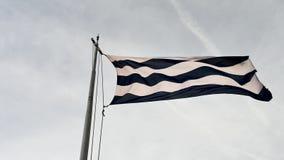 Stadsflagga av Dunkirk arkivfilmer