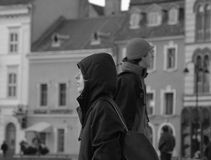 stadsfolk Arkivbilder