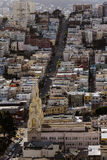 stadsfrancisco san scape royaltyfri bild