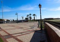 Stadsfyrkant av Faro i Portugal royaltyfria bilder