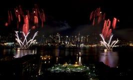 stadsfyrverkerier New York Royaltyfria Bilder